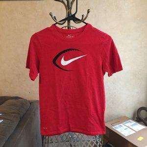 Nike Dri Fit Boys Football Tshirt Size Large